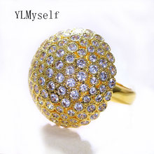 2021 новый золотой Цвет Циркон большое кольцо для женщины гриб