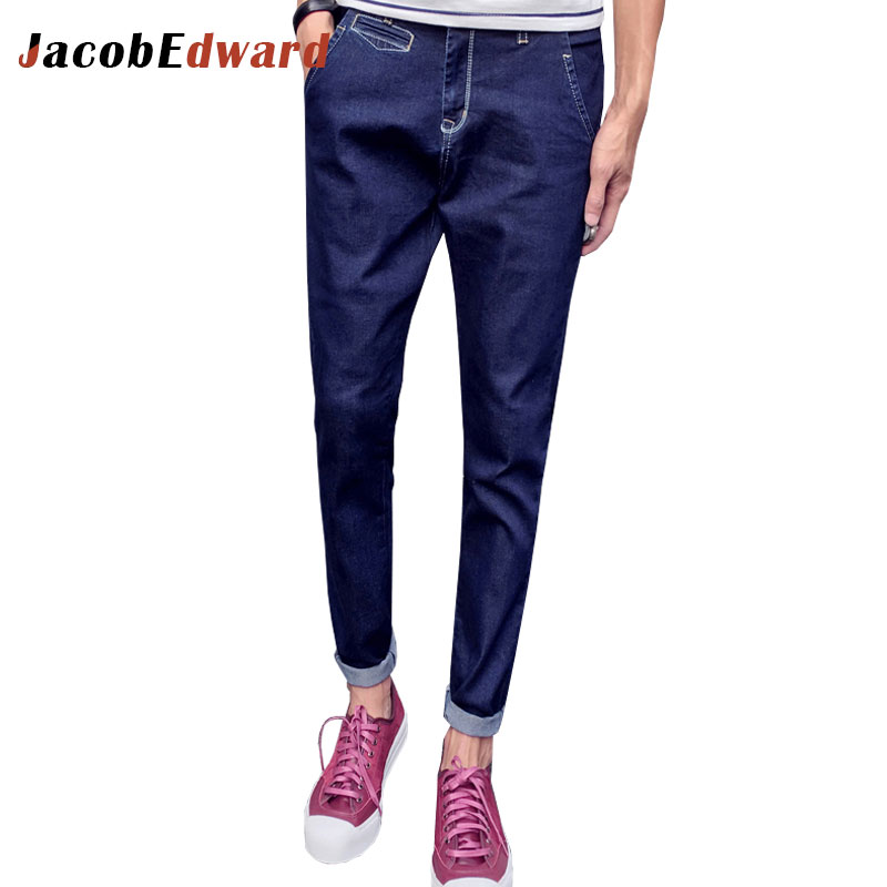 Jeans Homme 2017 Winter Casual Denim Trousers Full Length Straight Slim Fit Male Pants Plus Size Mens Brand Clothing