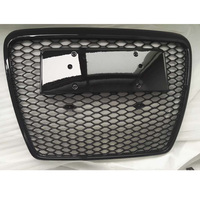 RS6 Style Black Frame Black Front Bumper Mesh Grill Grille Car Styling For Audi A6 S6