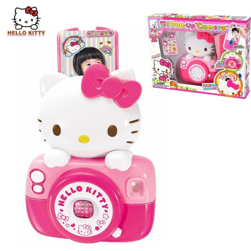 Hello Kitty caméra enfant amusant caméra enfants maison de jeu avec cadre photo simulation jouet filles jouets surprise cadeaux enfants