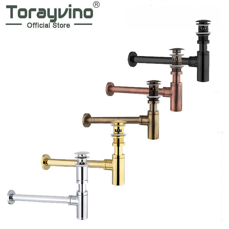 Nice Bottle Traps Pop up Basin Waste Drain Basin Faucet P-Traps Waste Pipe Into The Wall Drainage Plumbing Tube premium pop up bottle traps pop up click clack waste drain angel valve braided hose drain plumbing trap kit