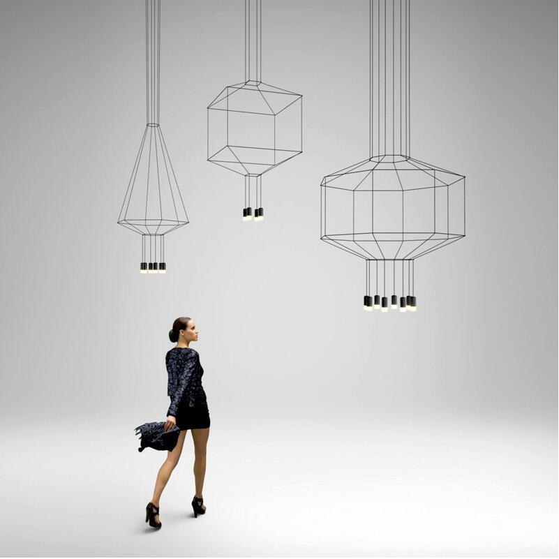 Nórdico moderno 110 v 220 v 240 v led preto wireflow luz pingente lâmpada escada hall lobby 3 metros cabo fluxo preto pendurado lâmpada