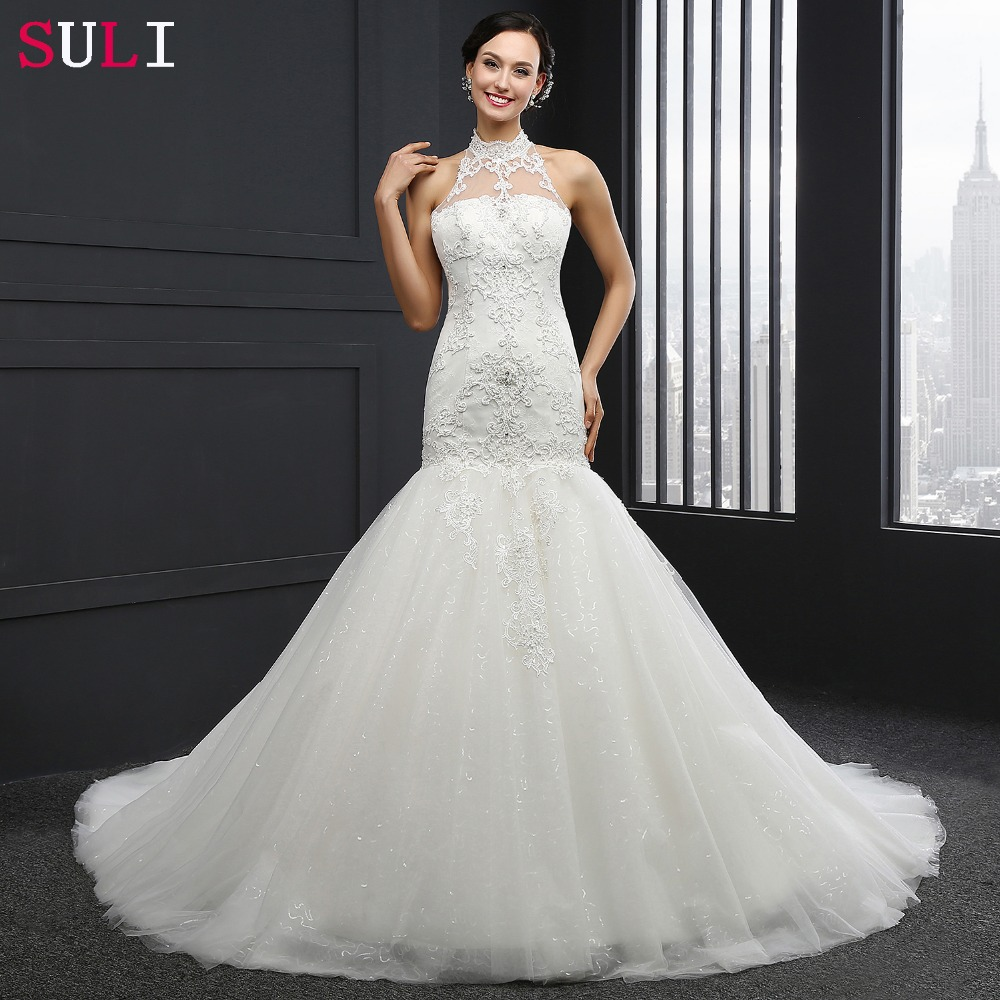 Q 030 new arrival mermaid wedding dress custom pearls for Custom mermaid wedding dress