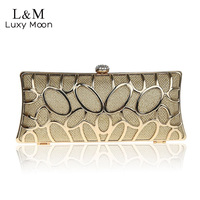 15 Fashion Women Metal Net Evening Clutch Bags Ladies Hollow Out Party Wallet Diamond Hasp Bridal