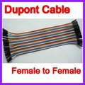 40 pcs em Linha 20 CM 1 p-1 p Female to Female Jumper Fio Dupont Cabo Para Arduino DropShipping Frete Grátis