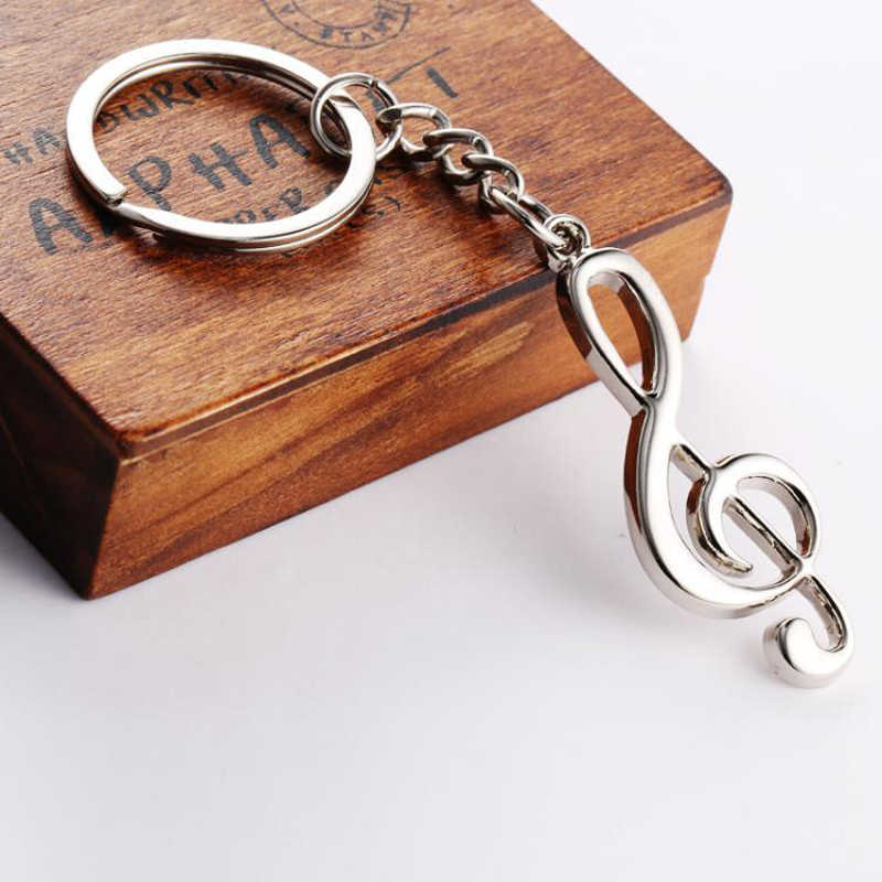 High Quality Alloy Creative 3D Funny Music Note Musical Keychains Key Rings Sports Key Chains Girls Boys Friend Gift