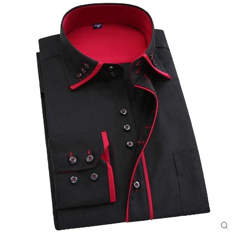 Karstā pārdošana 2018 super garām piedurknēm plus izmēra vīriešu kleita krekls vīriešu biznesa pavasara rudens garām piedurknēm vīriešiem camisa masculina
