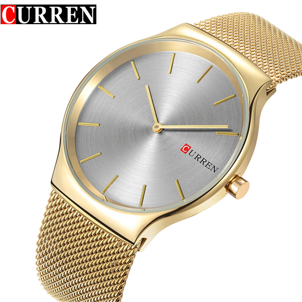 2017 Curren Mens Watches Top Brand Luxury Quartz Watch Men Waterproof Sport Watch Wrist Gold Watch