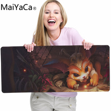 лучшая цена MaiYaCa LOL Mousepad League Of legend Missing Link Gnar Mouse pad mouse pad best gaming mouse pad gamer large keyboard Mat XL900