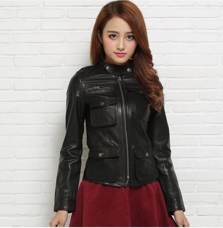 Ladies 100/% Original  Soft Sheep Skin Leather Jackets