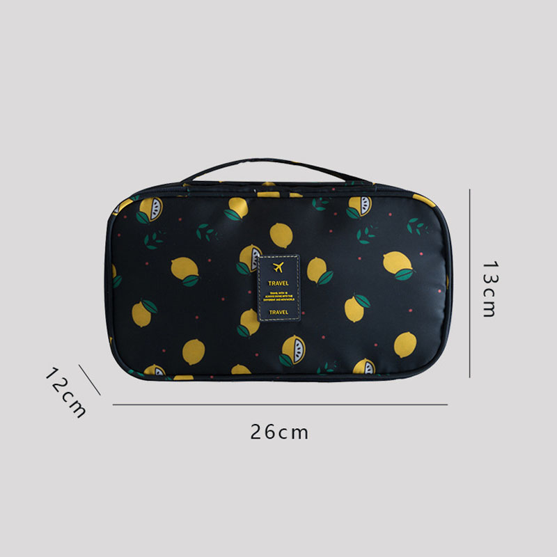 Yeqofcd Travel Clothes Underwear Bag Portable Bra Organizer Clothing Nylon Bags Zipper Waterproof Makeup Toiletry Bag For Women in Travel Bags from Luggage Bags