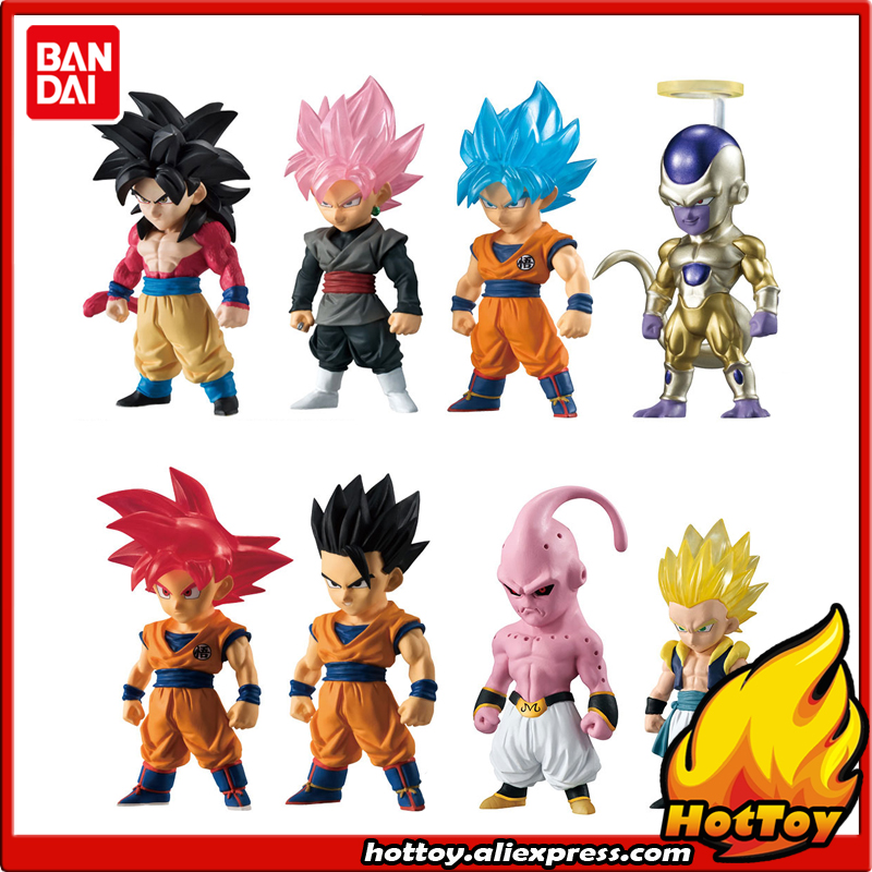 100 Original BANDAI ADVERGE Special 02 Toy Figure Full Set 8 Pcs Goku Gohan Gotenks Freeza