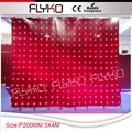 Free shipping   3*4m P200MM, DJ Booth Deck Curtain, LED lighting, DJ Accessories, Disco, Wedding, Party Lights