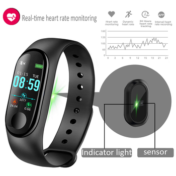 2019 New Women Sport Smartwatch Blood Pressure Heart Rate Monitor Smart Watch Men Fitness Tracker Pedometer Watch M3 1