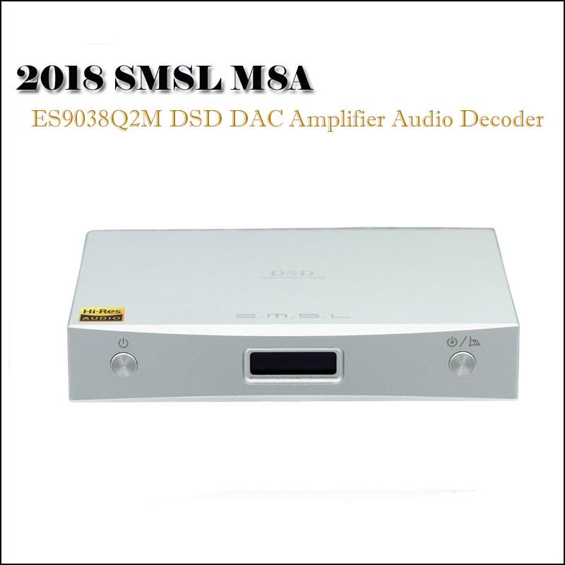 SMSL M8A DAC Audio Amplificatore Home Decoder DSD DAC ES9028Q2M Amplificatori XMOS Xu208 Hifi DAC USB Ottico Coassiale Ingresso Amp