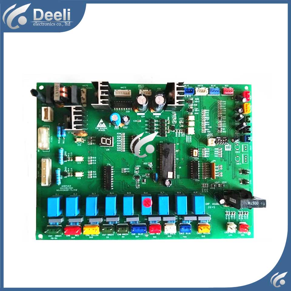 for Haier central air conditioning Computer board 0010451159A VC571015 KR280DP-T3 circuit board good working wire universal board computer board six lines 0040400256 0040400257 used disassemble