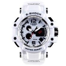 SMAEL Moda White Men Sport Watch LED Digital de 50 M À Prova D' Água Relógio S Choque Relógio relogios Masculinos de luxo masculino Homens Presente 1509