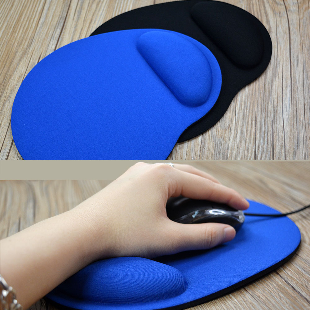 Rubber Bottom Computer Mouse Pad With Wrist Rest Optical Computer Mice Pad With Wrist Support For Laptop Gaming Mouse Pad For PC