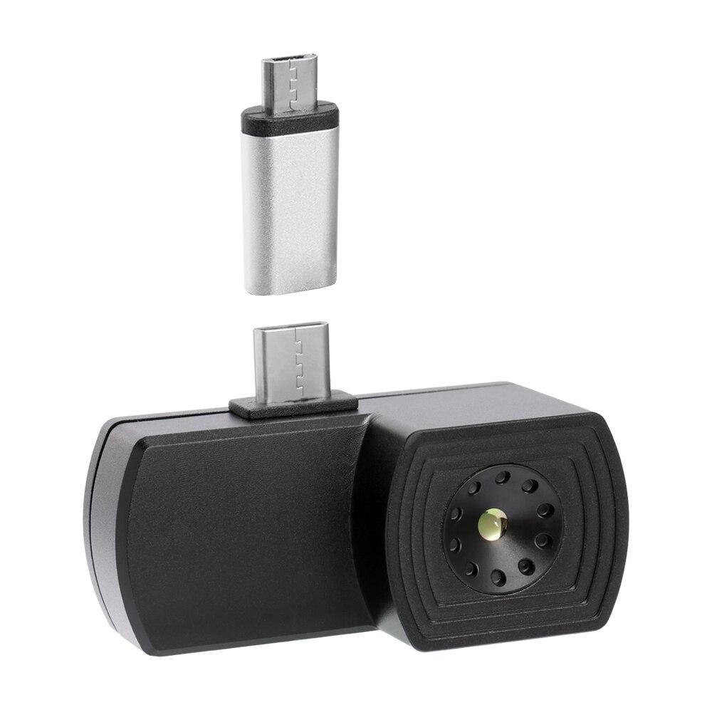 Termocamera imageur thermique caméra d'imagerie thermique imageur thermique téléphone portable externe infrarouge pour Android avec adaptateur