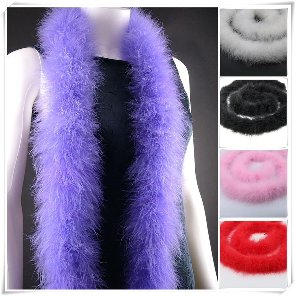 48-50g 2meters long fluffy feather boa super quality dyed red turkey feather boa for party/carnival costumes/party boa shawl