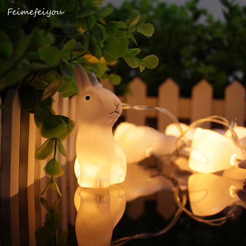 Event & Party Holiday Party Rabbit Led String Lights Garland Easter Day Festival Battery Powered Decorative Lights 1.5m 10leds Party Diy Decorations