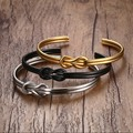 fashion jewelry 5MM double layered stainless stee lovel bracelet tricolor optional Korean jewelry h bracelets&bangles for woman