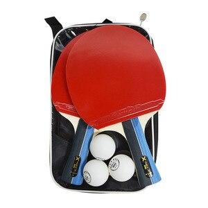 Image 5 - Huieson 2 יח\סט קלאסי 5 רובדי עץ מלא שולחן טניס מחבטי כפול פנים גומי עטלפי טניס שולחן עבור בני נוער