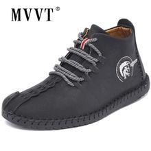 Classic Comfortable Men Ankle Boots Quality Split Leather Shoes Men Snow Boots Winter Shoes Keep Warm Fur Man Boot Shoes
