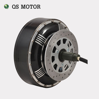 QS Motor 3000 W-16000 W 273 fırçasız dc elektrikli araba motor tek şaft tekerlek hub motor için satış