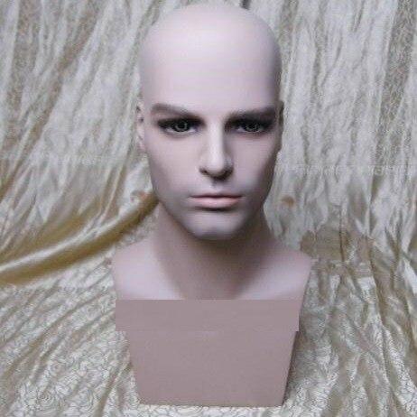 CAMMITEVER fibre de verre homme Mannequins tête d'entraînement homme Mannequin pour coiffure chapeau casquette Paspop lunettes écharpe vitrine