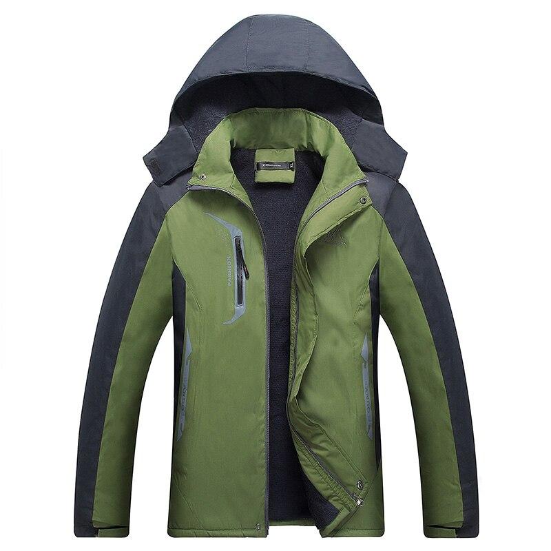 Izquierda ROM 2018 de los hombres de la moda de invierno de alta calidad caliente de corte slim Sudadera con capucha chaquetas/hombre suelto y cómodo viento ocio abrigo L-4XL