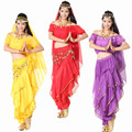 6 Colors New 2015 Women 5-Pieces-Set Belly Dance Performance Costome Indian Bollywood Dancing Clothing Danza Del Vientre LD058