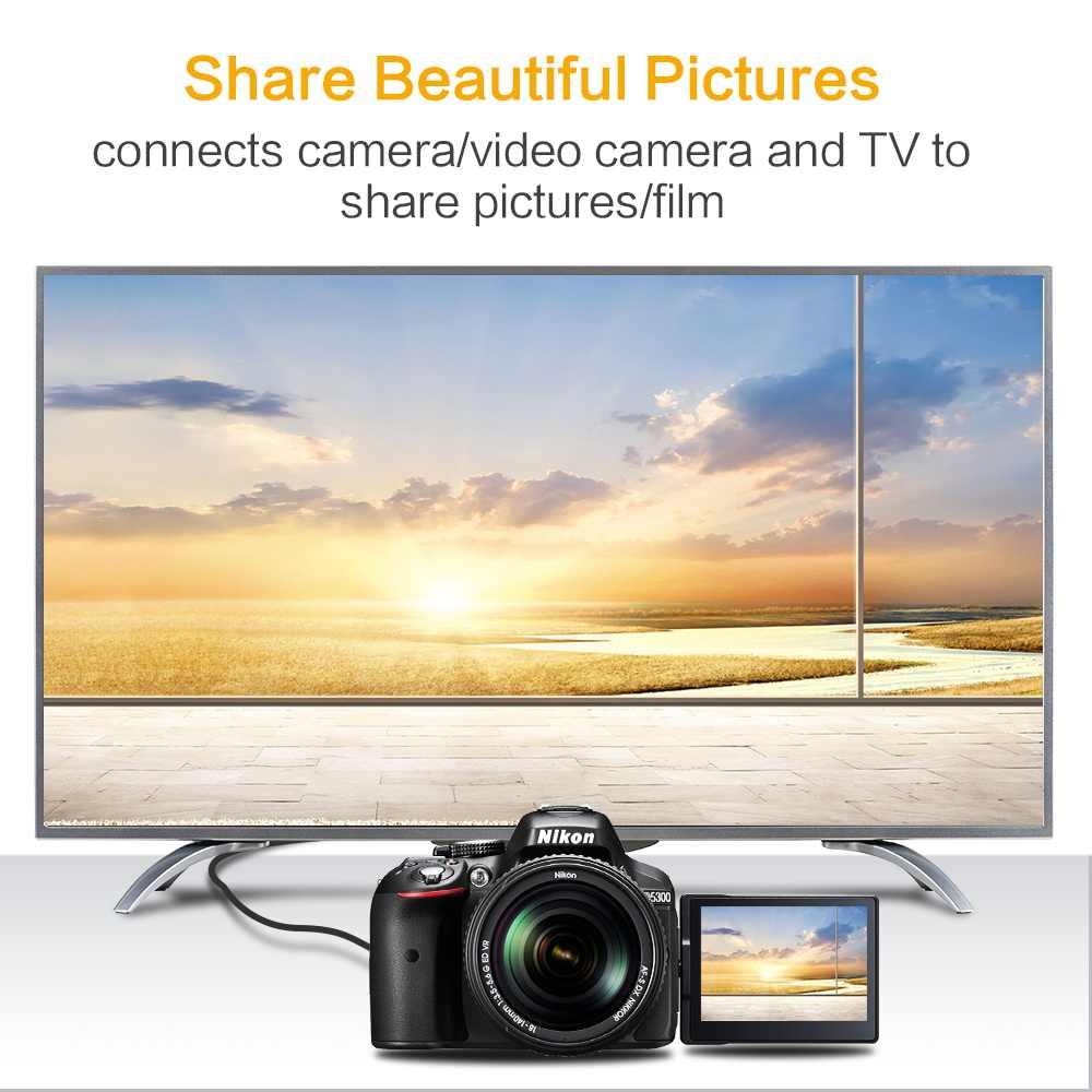 Cable de Micro HDMI a HDMI chapado en oro versión 1,4 3D 1080P macho-macho para tableta de teléfono HDTV PS3 XBOX cámara GoPro 1m 1,5 m 3m 5m