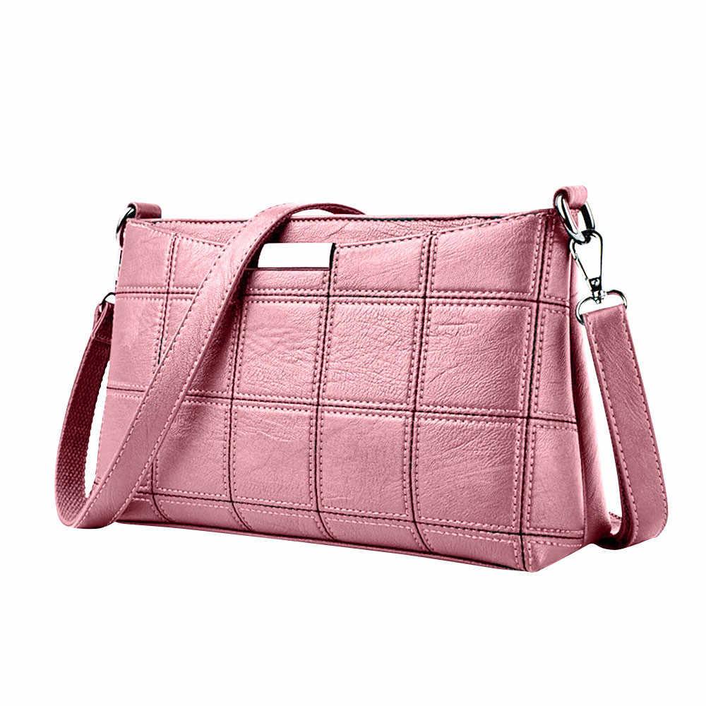 Mulheres Bolsa Casual Tassel Bolsas Femininas Designer de Xadrez Bolsa De Couro saco Do Mensageiro saco de Ombro pacote Pequeno quadrado JBN
