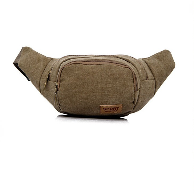 Fanny Pack Mens Multi-Color Bags Cycling Waist Bum Belt Bag Pouch Hip New Solid Canvas Material Casual Style
