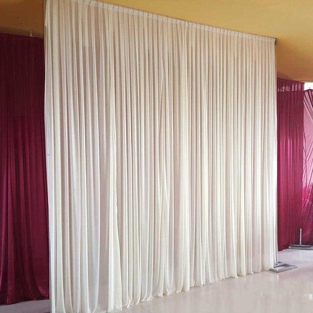 Ivoor wedding achtergrond 10ft x 10ft ijs zijde bruiloft achtergrond ...