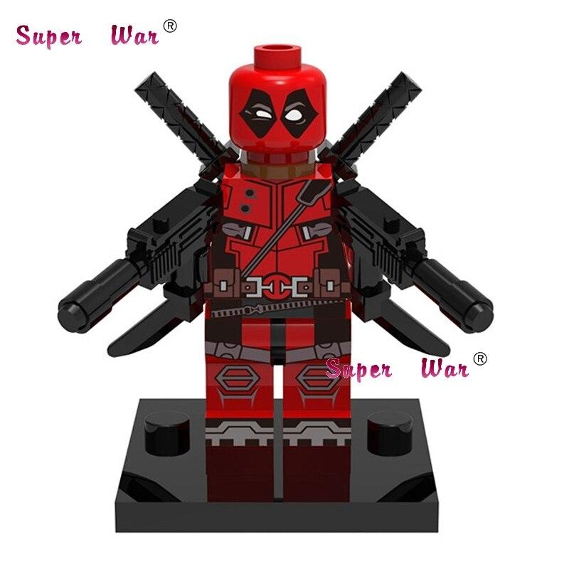 50pcs superhero Deadpool x men building blocks action bricks friends for girl boy house games kids