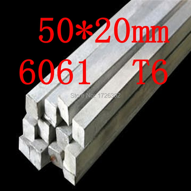 50mm x 20mm Aluminium Flat Bar,50*20mm,width 50mm,thickness 20mm,6061 T6