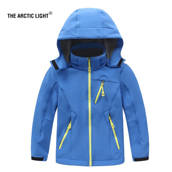 THE ARCTIC LIGHT Children Boys Girls Winter Outdoor Jacket Sport Child Waterproof Windproof Breathable Autumn Outerwear Coat the arctic light waterproof pants kids outdoor windproof softshell for boys girls blue red winter fleece hiking trouser children