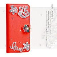 Per blackberry priv q30 dtek50 dtek60 luxury woman lady argento corona di fiori amore parole del fiore del diamante pu portafoglio in pelle case