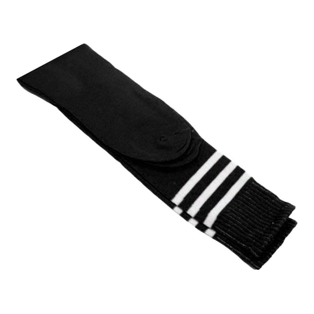 1 Pair Men Women Striped Stretch Football Soccer Sports Knee Length Long Socks New