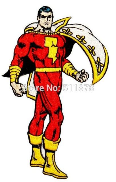 Superhero Shazam Classic Comics Dc Captain Marvel Hero Badge Tv Movie Embroidered Sew On