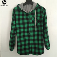 HZIJUE New Kanye West Hip Hop Plaid Shirt Men High Street Fashion Swag Clothing Loose Hipster