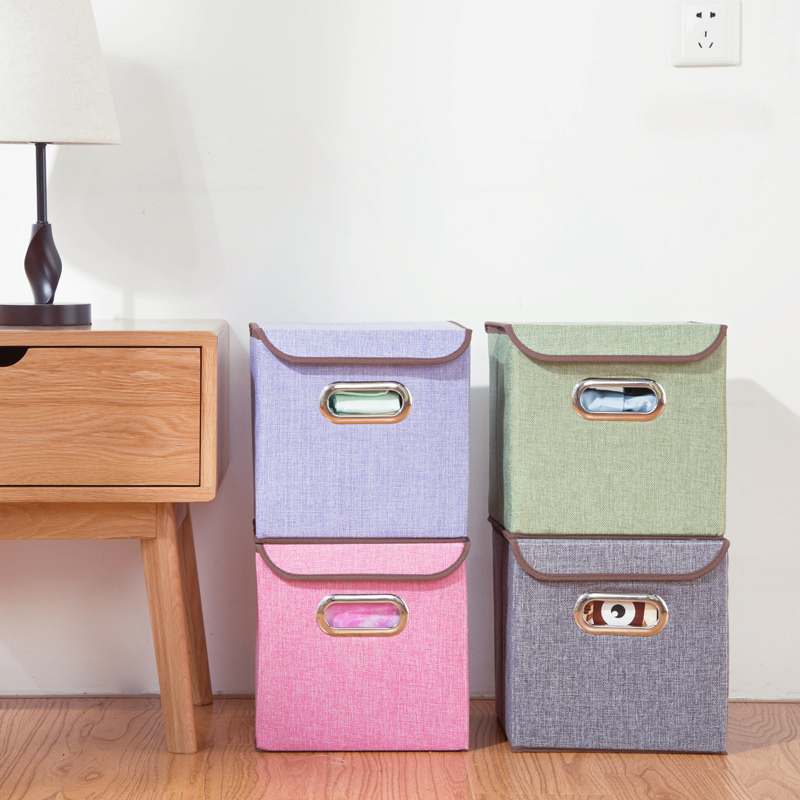 Canvas Storage Boxes For Wardrobes: Cloth Folding Storage Box Thicker Wardrobe Storage Box