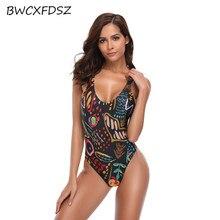 купить BWCXFDSZ New Swimwear Swimsuit Women Beach Swim Wear One Piece High Cut Strappy Monokini Triquini Bodysuit Swimming Bathing Suit по цене 1296.11 рублей