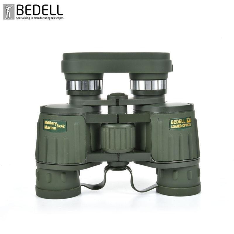 ФОТО BEDELL Brand HD Power Marine Military 8x42 Metal Zoom Fully Coated Optics Binoculars Telescope 131m/1000m For Hunting YP011-GRN