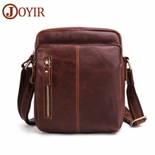 JOYIR Messenger Bag Genuine Leather Mens Shoulder Vintage Flap Travel Business Crossbody for Male Handbags 2018