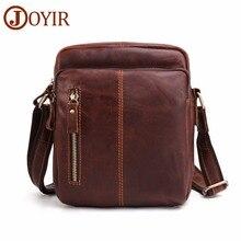 JOYIR Messenger Bag Genuine Leather Men's Shoulder Bag Vintage Flap Travel Business Crossbody Bag for Male Leather Handbags 2018 цена