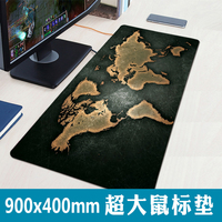 High Quality Retro World Map Large Mouse Pad 900 400mm Large Gaming Mouse Covered Edge Mouse