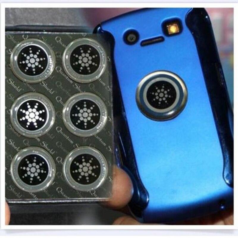 Autocollant de téléphone portable autocollant de bouclier quantique 100 pièces pour la Protection Anti-Radiation de téléphone portable d'emf Fusion Excel Anti-rayonnement - 3